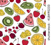 stylized seamless pattern with  ... | Shutterstock .eps vector #418490233