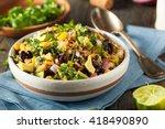 homemade southwestern mexican...   Shutterstock . vector #418490890