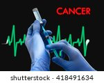 treatment of cancer. syringe is ... | Shutterstock . vector #418491634