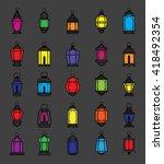 ramadan lantern symbol various... | Shutterstock .eps vector #418492354