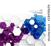 geometric hexagonal layout... | Shutterstock .eps vector #418498654