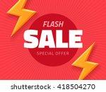 vector flash sale design with... | Shutterstock .eps vector #418504270