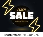 vector flash sale design with... | Shutterstock .eps vector #418504276