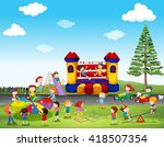 children playing game in the... | Shutterstock .eps vector #418507354
