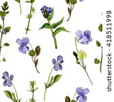 floral seamless pattern with... | Shutterstock . vector #418511998