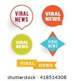 viral news labels set. isolated ... | Shutterstock .eps vector #418514308