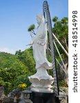 Small photo of DA NANG, VIETNAM - JANUARY 05, 2016: Avalokitesvara Bodhisattva (Goddess of Mercy) in the pagoda Tam Tone in Marble Mountains