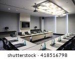 hotel meeting room  | Shutterstock . vector #418516798
