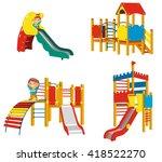 set of playgrounds for children.... | Shutterstock .eps vector #418522270