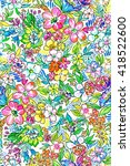 seamless ditsy flowers pattern... | Shutterstock . vector #418522600
