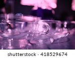 glassware in the interior of... | Shutterstock . vector #418529674