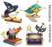 vector magic concept icons | Shutterstock .eps vector #418532446