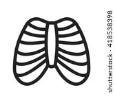 ribcage | Shutterstock .eps vector #418538398