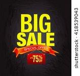 big sale special offer template ...   Shutterstock . vector #418539043