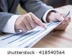 man analysis business accounting | Shutterstock . vector #418540564