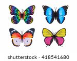 different butterfly colourful... | Shutterstock . vector #418541680