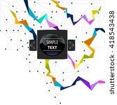 bright label design | Shutterstock .eps vector #418543438