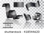 set of curved photographic... | Shutterstock .eps vector #418544620