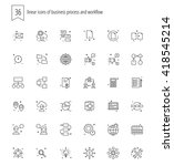 trendy web and apps line icons... | Shutterstock .eps vector #418545214