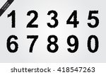 grunge numbers set.vector... | Shutterstock .eps vector #418547263