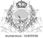 black  gray  and white crowned... | Shutterstock .eps vector #41855938