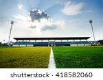 empty football field with... | Shutterstock . vector #418582060