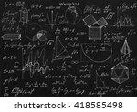 math geometry formulas on black ...   Shutterstock . vector #418585498