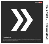 vector next arrow icon. vector... | Shutterstock .eps vector #418595758