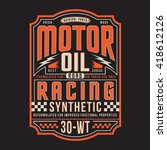 Motor Oil Racing Typography  T...