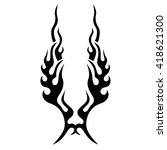 flame tattoo tribal vector... | Shutterstock .eps vector #418621300