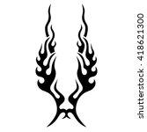 black tribal flames for tattoo... | Shutterstock .eps vector #418621300