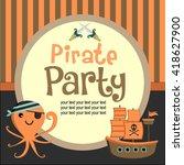 pirate logo template | Shutterstock .eps vector #418627900