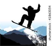 snowboarding   Shutterstock .eps vector #41863054