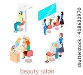 isomeric interior of beauty... | Shutterstock .eps vector #418632970