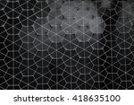 hexagonal ceramic wall pattern... | Shutterstock . vector #418635100