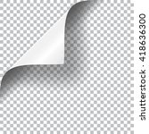 curly page corner realistic... | Shutterstock .eps vector #418636300