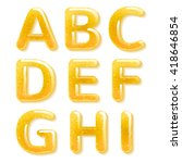 yellow honey jelly abc alphabet.... | Shutterstock . vector #418646854