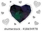 dark green heart isolated on... | Shutterstock .eps vector #418654978