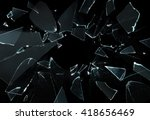 Shattered And Broken Glass...