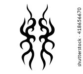 vector tribal tattoo designs.... | Shutterstock .eps vector #418656670