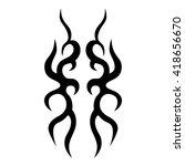 tattoo tribal vector design.... | Shutterstock .eps vector #418656670