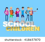 vector detailed character flat... | Shutterstock .eps vector #418657870