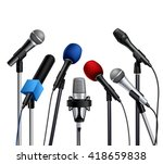 different muiltcolored press... | Shutterstock .eps vector #418659838