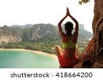 young healthy woman practice... | Shutterstock . vector #418664200