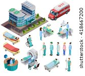 hospital isometric isolated... | Shutterstock .eps vector #418667200