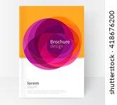 vector abstract business... | Shutterstock .eps vector #418676200