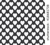 abstract seamless monochrome... | Shutterstock . vector #418681738