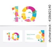 creative number 10 design... | Shutterstock .eps vector #418682140