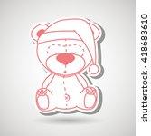 teddy sleeping design  | Shutterstock .eps vector #418683610