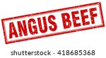 angus beef red grunge square...   Shutterstock .eps vector #418685368